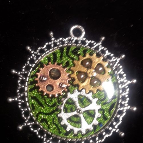 """Steampunk-Halskette Green"""