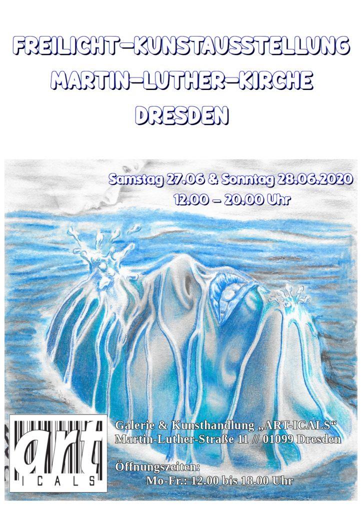Freilicht – Kunstausstellung an der Martin-Luther-Kirche