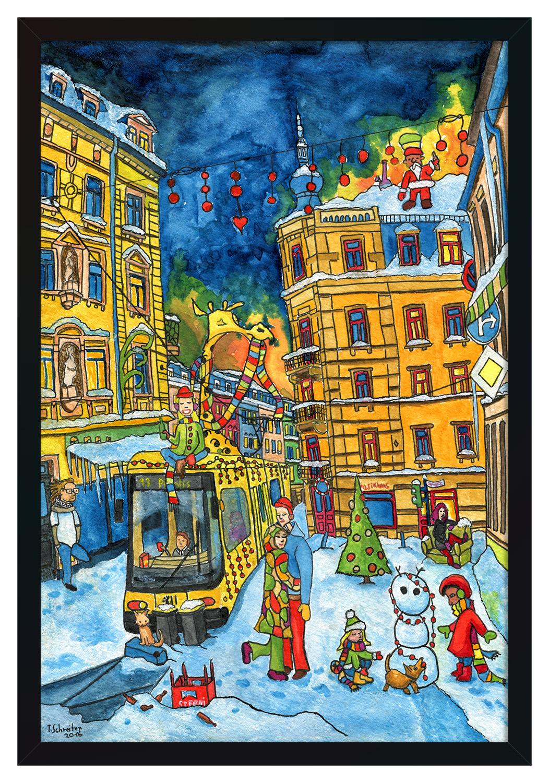 Bermudadreieck Weihnachten [Kunstdruck]