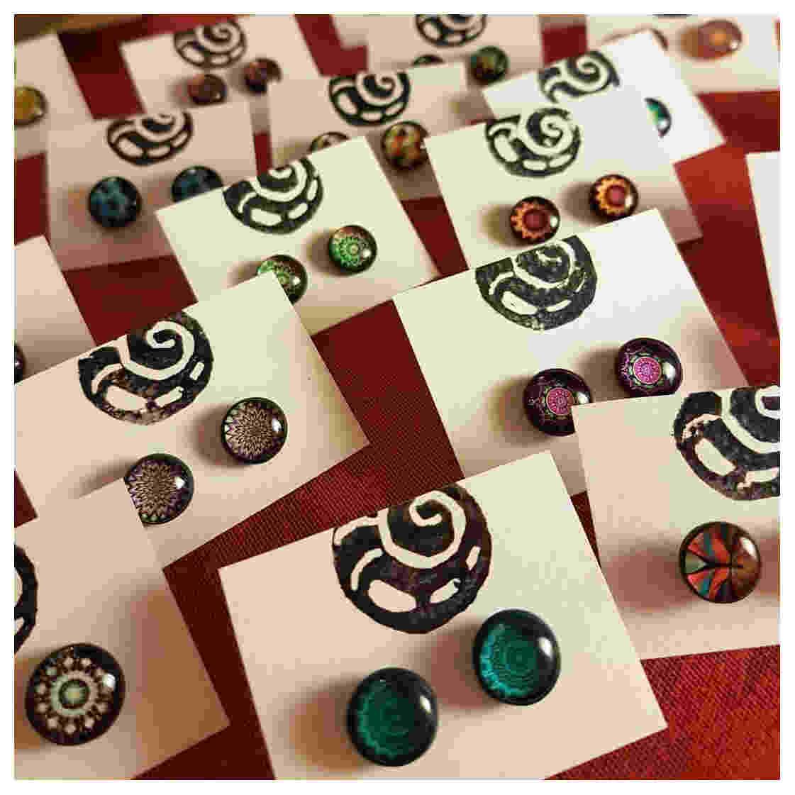 Ohrstecker - verschiedene Farben und Muster